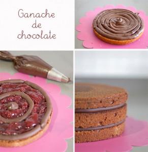 Receta Rellenos para tartas decoradas con fondant: ganache de chocolate