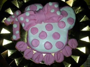 Receta Tarta Minnie… sin leche y sin huevos