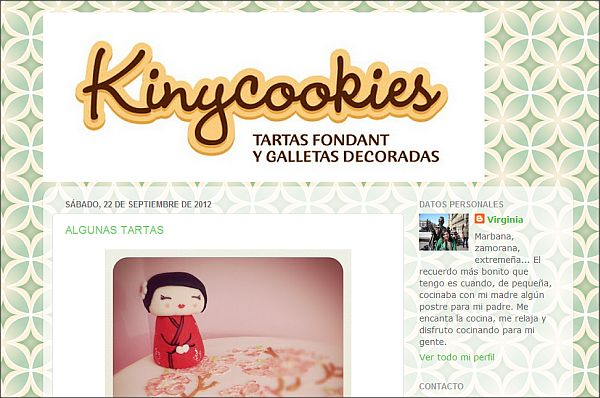 Página web Kinycookies