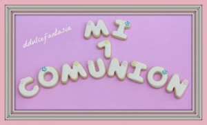 Receta GALLETAS COMUNION 2014