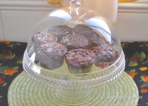 Receta LA VUELTA …..       Double chocolate muffins