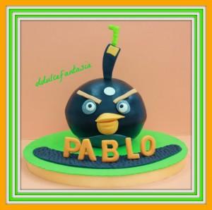 Receta TARTA ANGRY BIRDS PARA PABLO