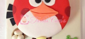 Receta Tarta Fondant Angry Birds !