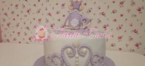 Receta Tarta Fondant Princesa Sofia