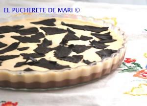 Receta MOUSSECAKE  DE CHOCOLATE NEGRO Y DULCE DE LECHE