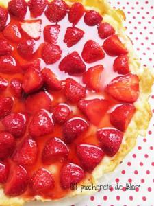 Receta TARTA RÁPIDA DE FRESAS y de paso mermelada de fresas