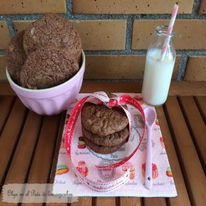 Receta Cookies brownie de chocolate