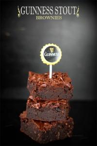 Receta Brownies con cerveza negra Guinness