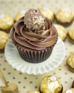 Receta Cupcakes de Ferrero Rocher