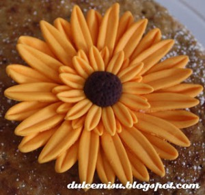 Receta Tutorial paso a paso de la flor gerbera o margarita