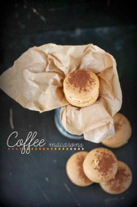 Receta Macarons de café con crema de toffee