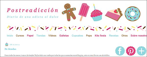 Página web  Postreadicción galletas decoradas, cupcakes y pops