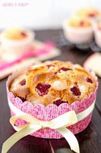 Receta Mini tarta de frambuesas y yogur griego