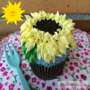 Receta Cupcakes decorados con motivos primaverales
